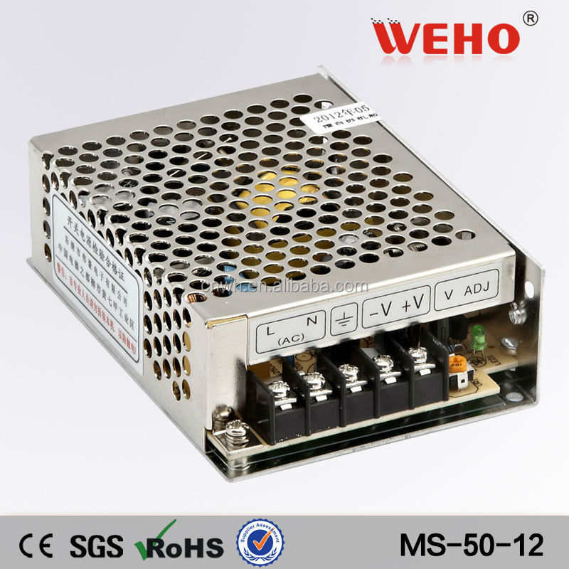2015 Hot sale 4.2a mini Single Output 12v 50w ac/dc power supply industrial led driver psu