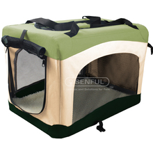 Folding fabric new dog pet soft crate