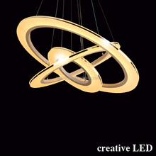 hotel selling circle acrylic cafe ring pendant lighing led ceiling light