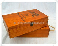 Alibaba China Supplier Customized Luxury Individual Wooden Wine Box for Packaging