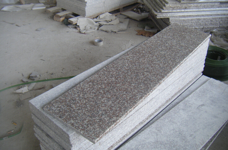 China Cheap Rose Pink G687 Granite Outdoor Steps /outdoor Stairs