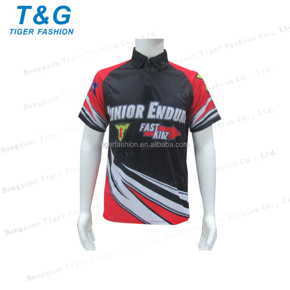 Custom motor wear adult sublimation racing shirts