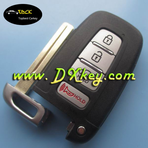 Hot sale 4 button smart car key 315mhz (HYN14 blade) for hyundai car key auto remote key