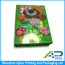 Promotion colorful toy gift paper box with clear pvc window, cardboard paper box for display