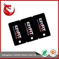Hot selling perforated custom pvc visiting card models cards