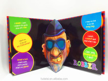 FDT customizes full color children 3D pop up book printing