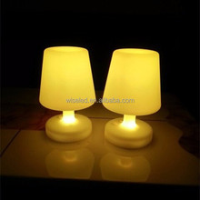 cordless hard plastic colors flash rechargeable led table lamps