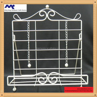 Metal wire displaying cookbook book stand holder