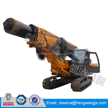 22m depth portable hydraulic rotary bore pile drilling machine small pile foundation equipment