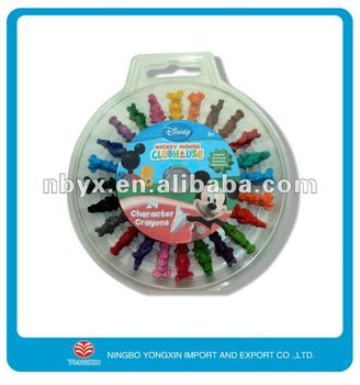 3D animal shaped plastic wax crayon