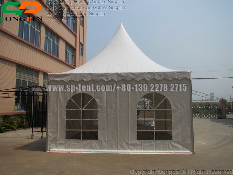 Small Family Garden pagoda canopy gazebo tent for 24 to 30 guests seater