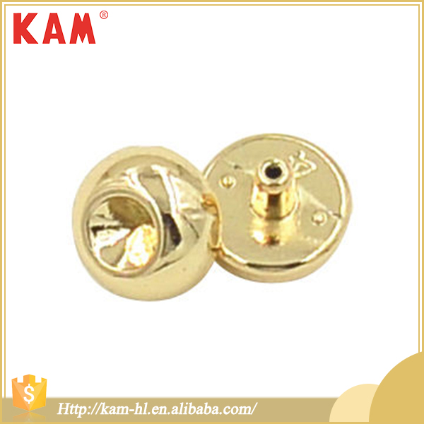 Fashion design lemon gold snap metal rivet fancy buttons