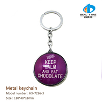 HX-7226 Hot Selling Keyring For London Souvenir With Double Letters