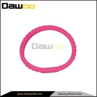 unique top sell novelty pink car steering wheel cover