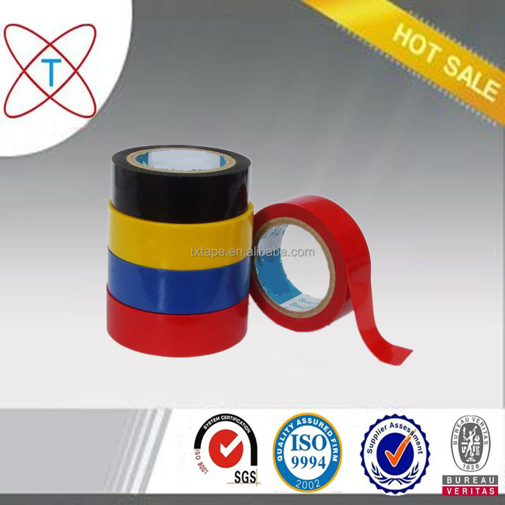 High voltage pvc tape/pvc insulation tape/high quality pvc electrical insulating tape
