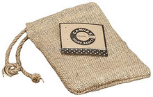 Small Drawstring jute promotion sacks with jute string
