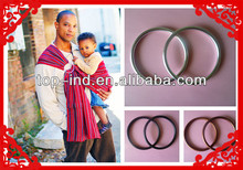 High end elegance cotton spandex baby ring sling