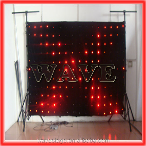 Good WLK-1P9 Black fireproof Velvet cloth RGB 3 in 1 leds vision backdrop concert stage led screen