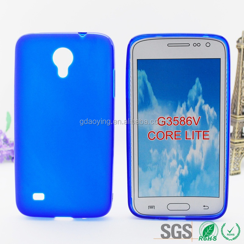 mobilephone tpu pudding style gel case cover for Samsung Galaxy Core Lite/G3586U