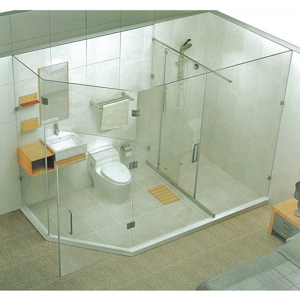 Simple cleaning stainless steel cabins room shower enclosures