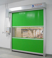 motorized industrial rolling shutter doors pvc fast door