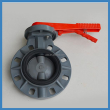 Wholesale gear operators/electric or pneumatic actuator plastic pvc wafer type butterfly valve