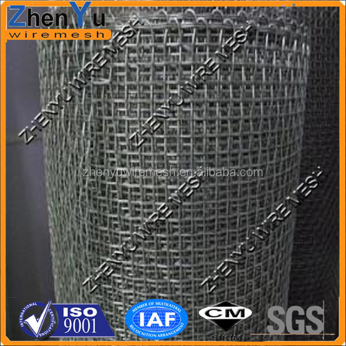 stainless steel crimped wire mesh screen used for filteration