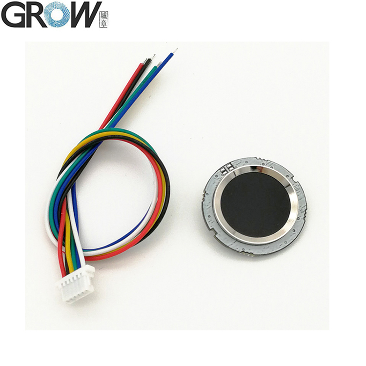 GROW R502 DC3.3V UART Small Round Capacitive Fingerprint Module Sensor Scanner