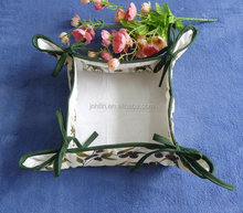 cloth printed bread basket with sponge