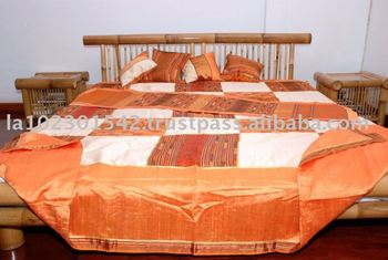 Silk bedspread with taditional pattern