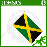 hand held flag pole wholesale jamaican promotional hand flags