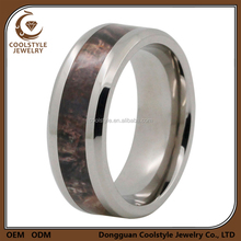 8mm camo band trees leaves hunting camouflage wedding ring for men