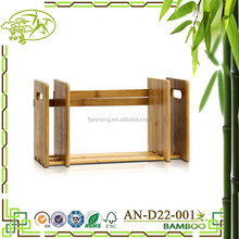 Aonong bamboo flexible storage rack/adjustable table top bookshelf