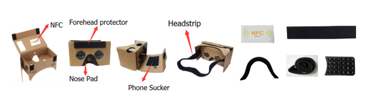 young people fashion virtual reality viewer, Google cardboard VR 3d glasses version 2.0 for Android google cardboard 2.0