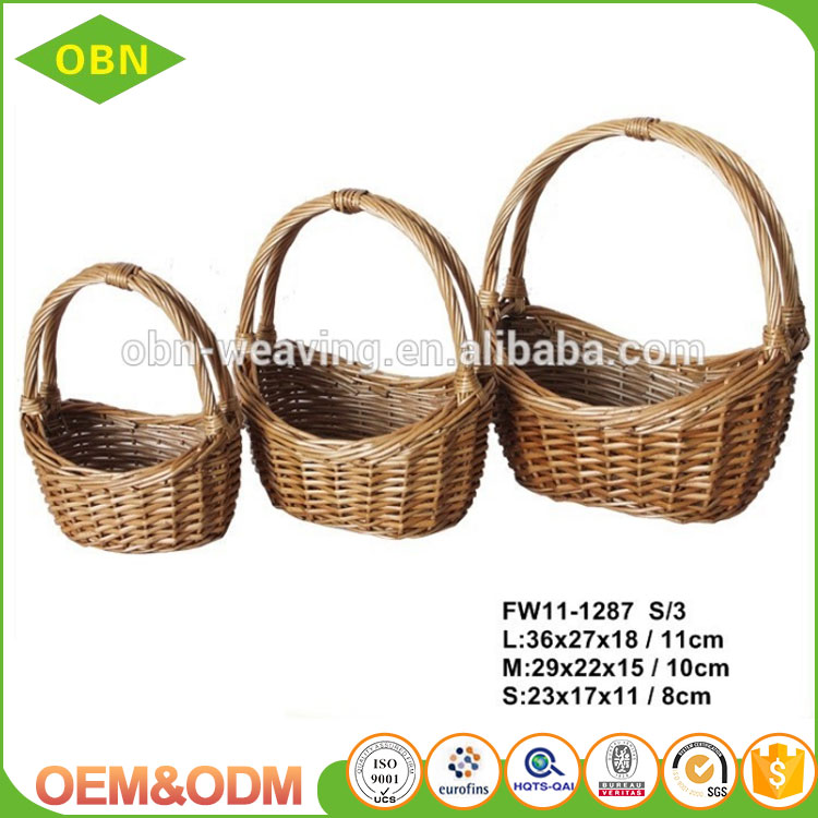 Fruit and vegetable use 2016 new design wholesale cheap handmade small rattan basket