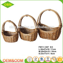 Fruit and vegetable use 2017 new design wholesale cheap handmade small rattan basket