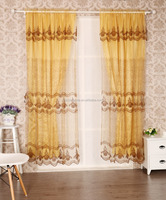 Sheer Voile Window Panel Drapes organza embroidery curtains and drapes