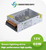 12v 60w led transformer china manufacturer high quality 5a dali dimmable led driver 60w led strip power supply