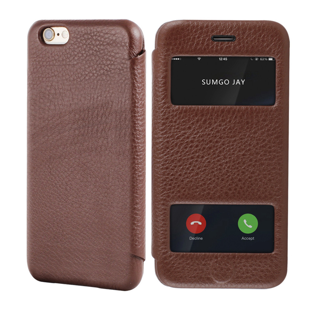 <strong>Hot</strong> ! high quality leather case phone for iphone 6 Plus
