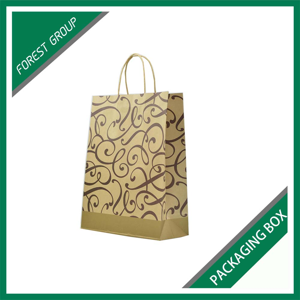 HIGH QUALITY BROWN KRAFT PAPER UMBRELLA PACKAGING BAG WITH CUSTOM PRINTING