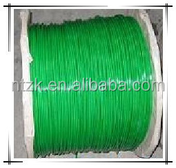 DIN3060 green plastic pvc coated galvanized steel wire rope