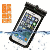E038 Camouflage Cell Phone Waterproof Pouch Cover Case Skin 5.5 inch with Compass