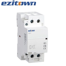 EZITOWN 63A Magnetic din rail Mounting Modular AC hand control Contactor 3P 4P 2 pole contactor 220v Household