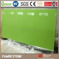 China Grass Green Sand Artificial Quartz Stone