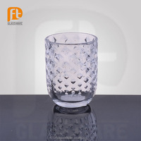 PFT clear crystal tumbler drinking fruit/water/beer/tea glass cup