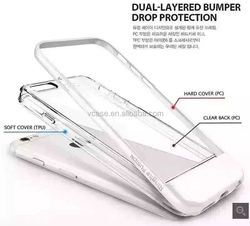 VCASE new design clear tpu + pc fashion mobile cell phone covers for iphone 6