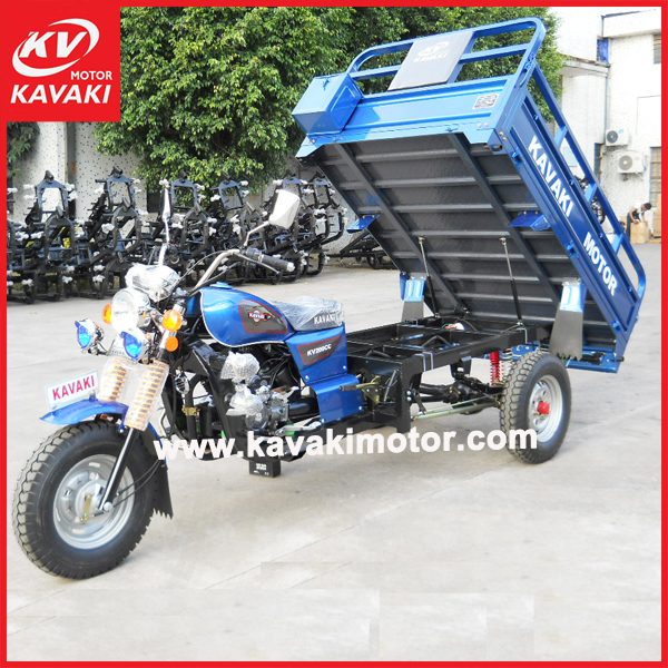 KAVAKI Supplier high quality gaoline motor scooter adult cargo tricycle & tuk tuk for CKD