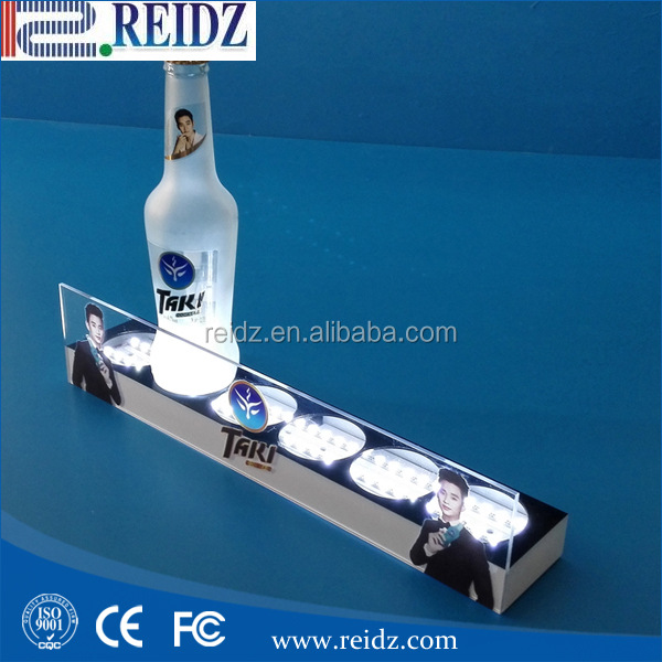 Brand custom LED acrylic bottle liquor display