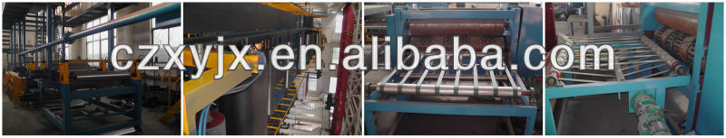 membrance Colorized Asphalt Shingle Production Line Waterproofing Membrane making machine Colorized Shingle Production Line