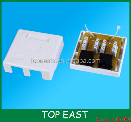 Cat6 RJ45 Surface jack 2Port modular surface jack cat6